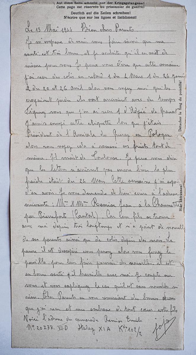 Altengrabow stala xi a lettre 13 05 44