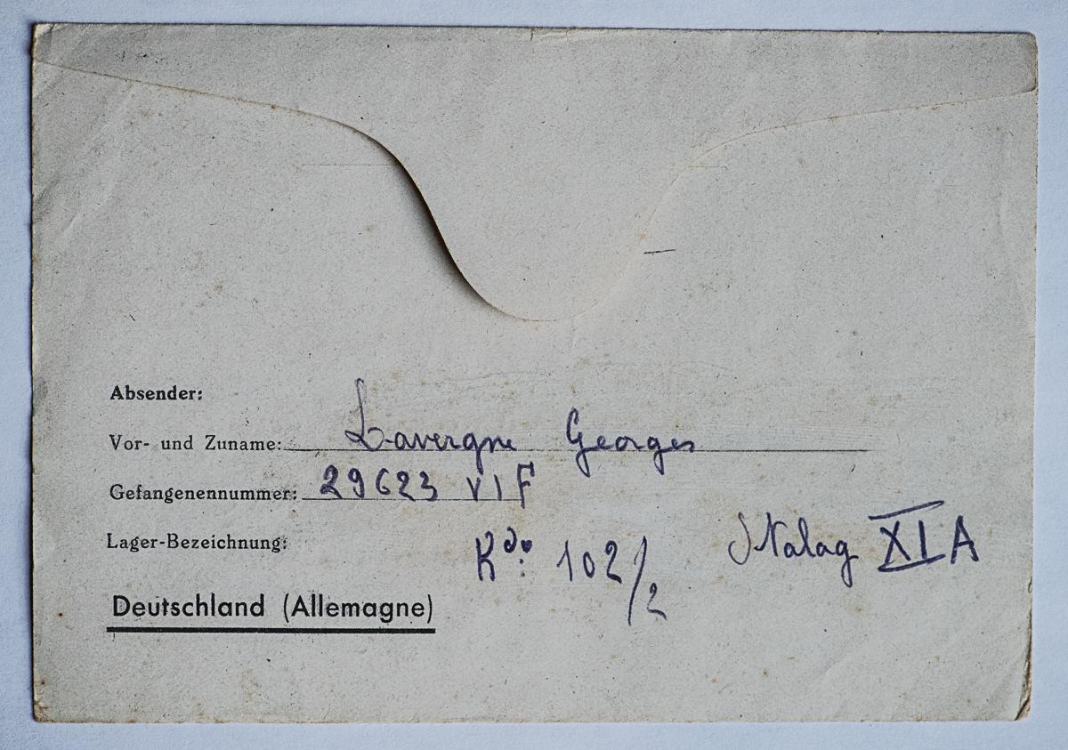 Altengrabow stalag xi a dos lettre 19 03 44