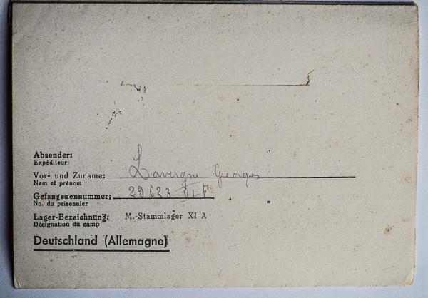 Altengrabow stalag xi a dos lettre 31 03 44