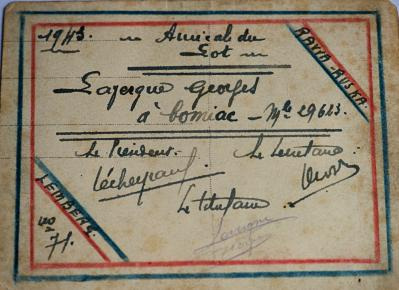 Carte adherent dos rawa 1943