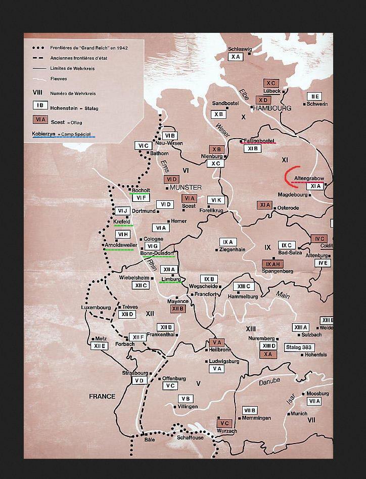 Carte des stalags 1