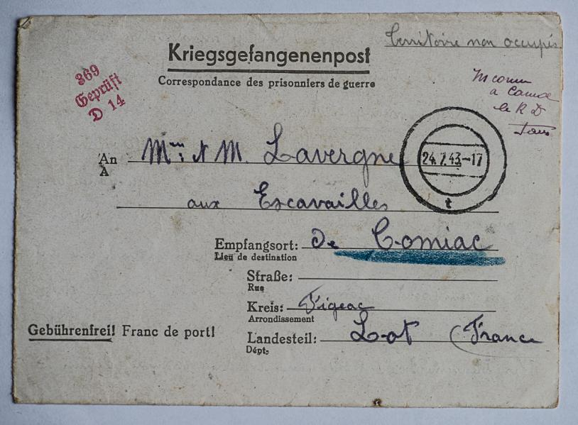 Kobierzyn stalag 369 k 1820 f enveloppe lettre 06 07 43