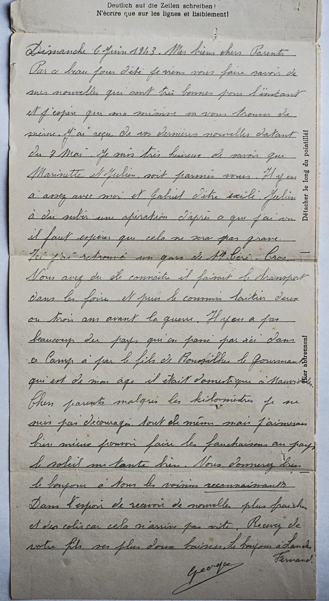 Lemberg stalag 325 lettre lettre 06 06 43